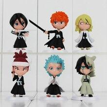 "Bleach Series 1Set 6pcs/set 7cm2.8""Japana Anime Toy 6 Generation Bleach PVC Action Figure Christmas Gifts"