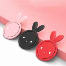 Rabbit Design 360 Degree Phone Ring Metal Finger Mobile Smartphone Stand Holder For iPhone 10