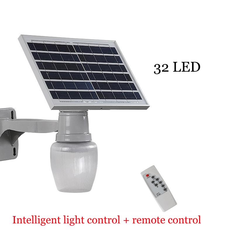 Outdoor Led Light With Remote: Solar Garden Light 10W Intelligent Remote Control Outdoor