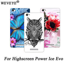 For Highscreen Power Ice Evo phone case Patterns Beautiful Flower animals Towers design Cover For Highscreen Power Ice Evo cases(China)