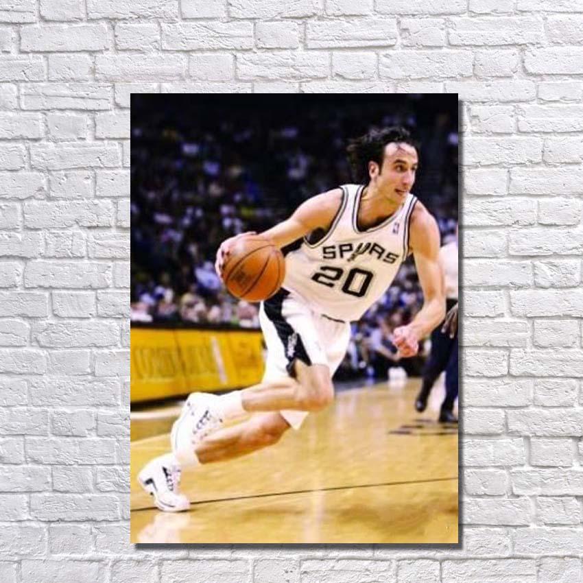 Peinture à l'huile peinte à la main célèbre étoile de basket-ball peinture sur toile photos murales pour chambre peinture sans cadre
