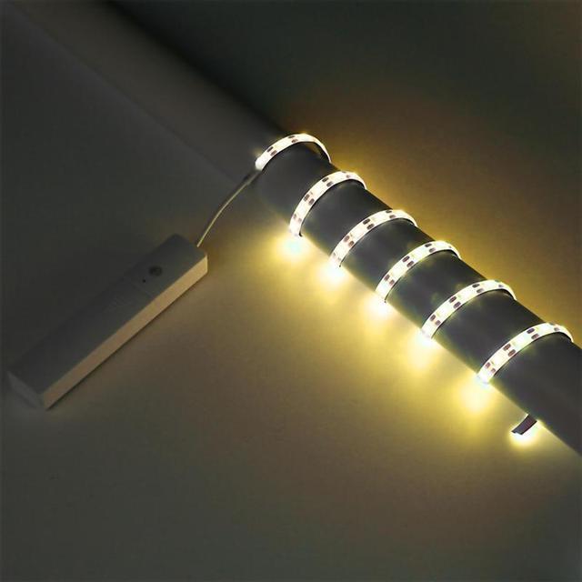 Youoklight 1m led strip lights motion sensor light strip battery youoklight 1m led strip lights motion sensor light strip battery powered led tape lights soft white aloadofball Gallery