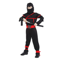 Classic Halloween Costumes Cosplay Costume Martial Arts Ninja Costumes For Boys Fancy Party Decorations Supplies Uniforms