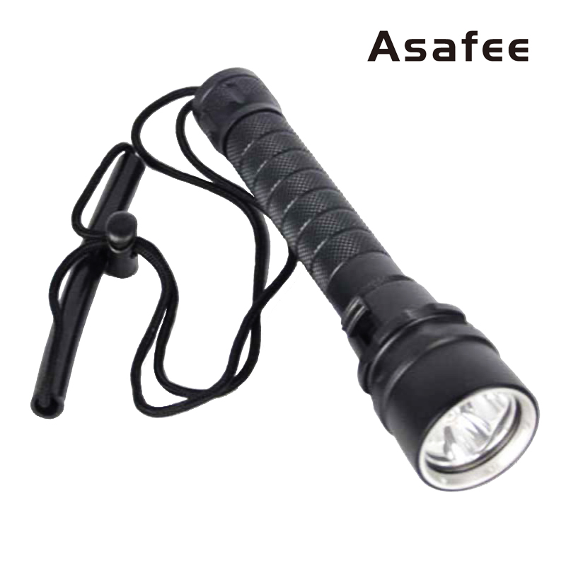Asafee Diving Flashlight Underwater 18650 Scuba Diving Light 3xCree XM L2 Waterproof LED Diving Flashlight Torch 50M 100m underwater diving flashlight led scuba flashlights light torch diver cree xm l2 use 18650 or 26650 rechargeable batteries