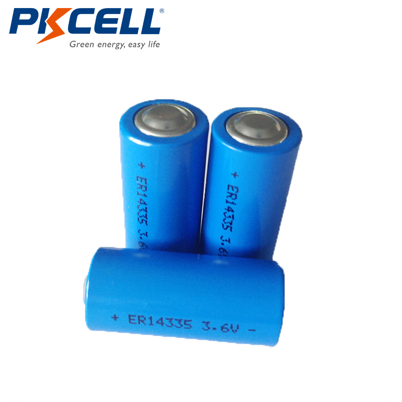 PKCELL 20PCS 2/3AA Size ER14335 LS14335 3.6V 1650mah Li-SOCL2 Batteries Energy Lithium Battery for Smoke Alarm Instrument