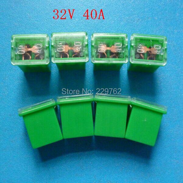 Free Shipping 100PCS 32V 40A green auto mini fuse link mini female