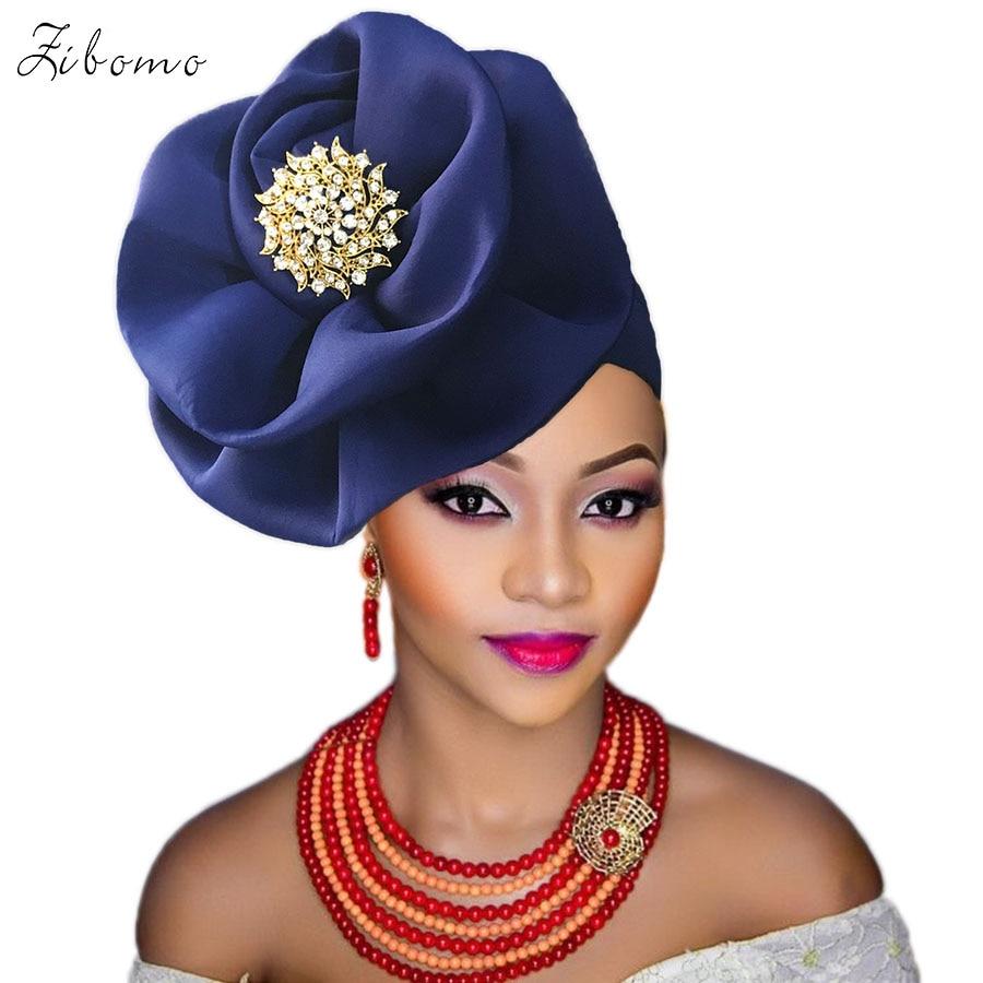 Turban headtie african turban cap aso oke gele ready to wear auto hele african lace auto gele aso ebi headtie 2018 new (1)
