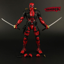 "Red In Stock 10"" 25cm The Avengers Super Hero Justice league X-MAN Deadpool Action Figure Toys Collection Model With Retail Box"