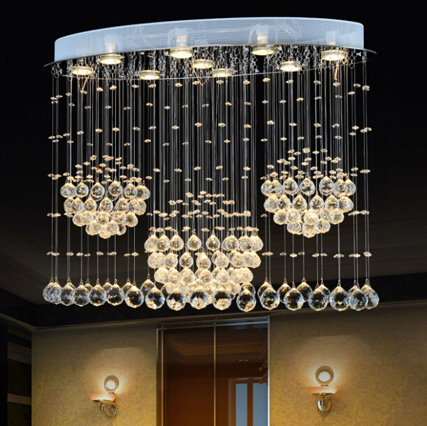 Modern Art K9 Crystal LED Ellipse Pendant Light Luxurious Fashion Brief Stairs Lamp Living Room Lustre Suspension Lighting italy design k9 crystal chandelier modern fashion led glass suspension light living room bedroom bar lustre crystal light