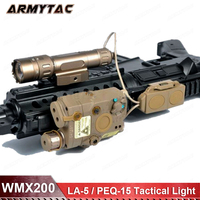 Airsoft LED light Tactical kit includes LA 5/PEQ 15 WMX200 Flashlight Double Remote Control Fits For 20mm Rail