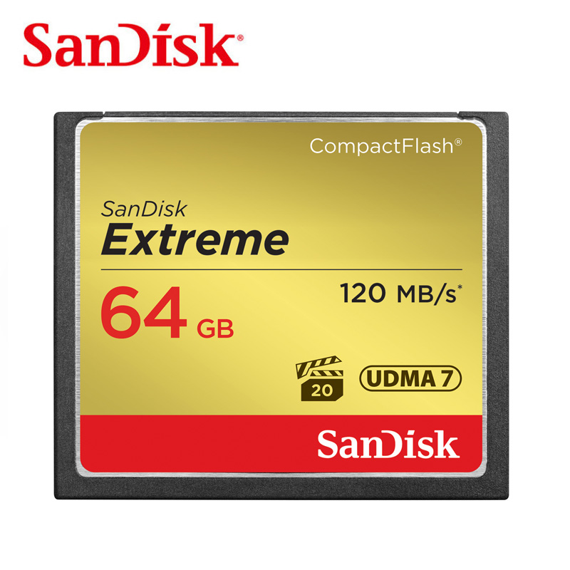 Sandisk Extreme conpact flash Memory Card CF Card 16GB 32GB 64GB Up to 120MB/s Read Speed for rich 4K and Full HD video camera