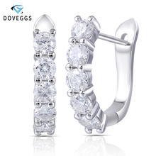 купить Amazing 2 Carat ct Round Brilliant Lab Grown Moissanite Diamond Genuine 18k 750 White Gold Drop/Dangle Earrings  по цене 19530.24 рублей