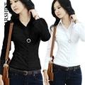 Feminina blusa camisas de las mujeres blusa blanca tops calidad gasa señoras de la oficina camisetas grandes tamaños mujeres clothing