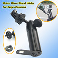 Ball Head Metal Motorcycle Mirror Stand Holder for SJ4000 Sport camera Digital Camera Gopro Hero 1 2 3 Scooter adjustable Mount