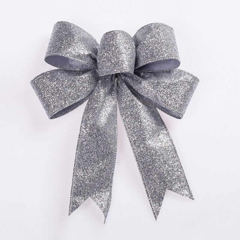 silver bow christmas decoration | Billingsblessingbags.org