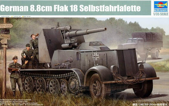 Trumpet 01585 1:35 German 12 tons DB9 (88mm vehicle) Assembly model assembly model trumpet player 1 35 german fox fox light armored vehicle holland type tank toys