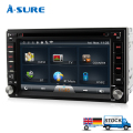 A-Sure Double GPS Universal ISO 2-Din DVD Player sat nav WiFi in-car stereo Bluetooth 3G* USB Autoradio