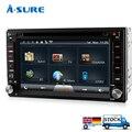 A-sure Doble GPS Universal ISO 2-Din Dvd sat nav WiFi estéreo en el coche Bluetooth 3G * Autoradio USB