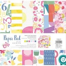 24 Sheets Flowers Pattened Craft Scrapbooking Paper Pack Kirigami Art Background Card Pad Making DIY Handmade