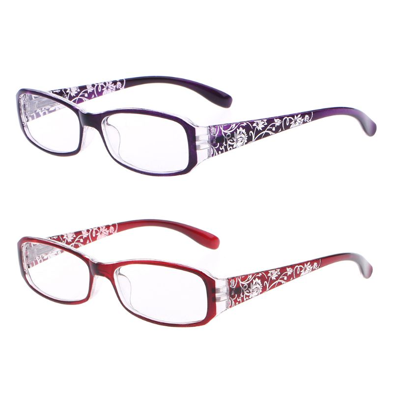 Fashion Women Spring Hinge Flower Print Resin Reading Glasses Lady Eyewear Protector Glasses Presbyopic +1.0~+4.0(China)