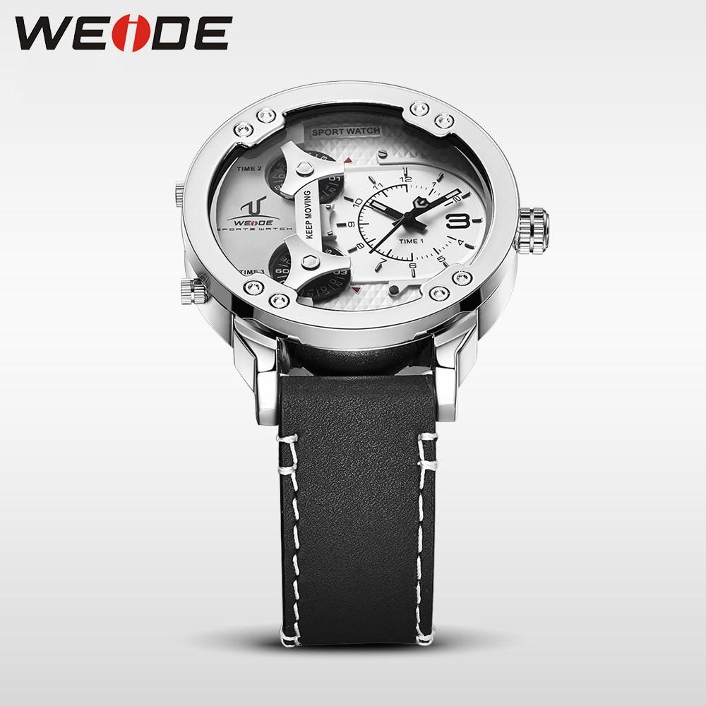 Weide klok luxe quartz horloges Mannen wit sport elektronisch horloge - Herenhorloges - Foto 4