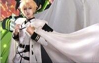 Seraph della Fine Cosplay Mikaela Hyakuya Completo Costume con la parrucca shirt + coat + Pants + Mantello + parrucca + guanti + cintura