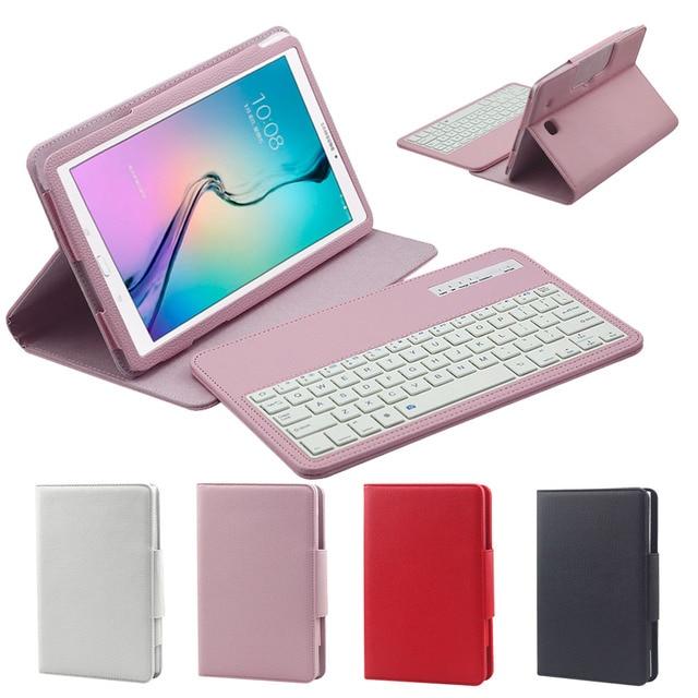 6167fc7af92 2 en 1 funda de teclado Bluetooth inalámbrica extraíble para Samsung Galaxy  Tab E T560 T561