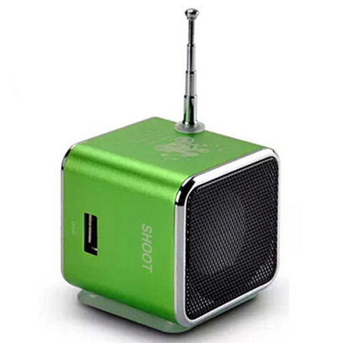 Portable Rechargeable Micro SD TF Mini USB LED Speaker Music Player FM Radio Stereo td v26 portable speaker mini fm radio receiver mp3 music player lcd soundbar micro sd tf music stereo loudspeaker for laptop