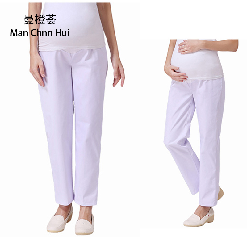 f6dbd9d54c6 Medical clothing summer nurse medical Pink white Nurse Pants Elastic Waist  Work Bottoms Nurse Pants Female