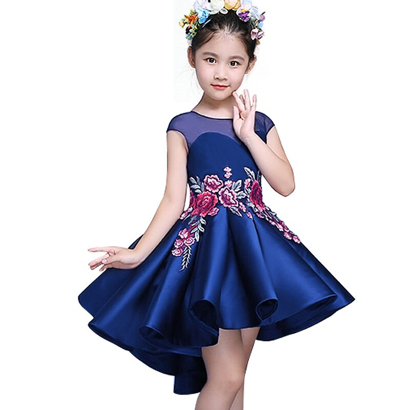 3-12 Years Kids Spring/Autumn Princess Dresses for Toddler Girl Children embroidery Fashion Clothing Baby Girl Dress baby girl princess dress 3 12 years kids sleeveless big bow tutu dresses for toddler girl children fashion clothing