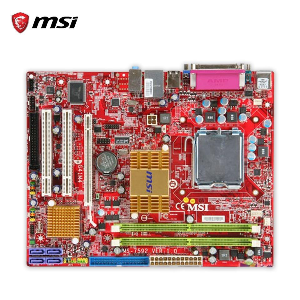 MSI G41M4-L Original Used Desktop Motherboard G41 Socket LGA 775 DDR2 8G SATA2 USB2.0 Micro-ATX msi g41m p23 original used desktop motherboard g41 socket lga 775 ddr3 8g sata2 usb2 0 micro atx