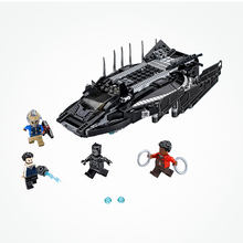 Blocks 07099 Legoing Marvel Super Heroes Black Panther Royal Talon Fighter Attack Set Mech Bricks Legoing Avengers Infinity War(China)