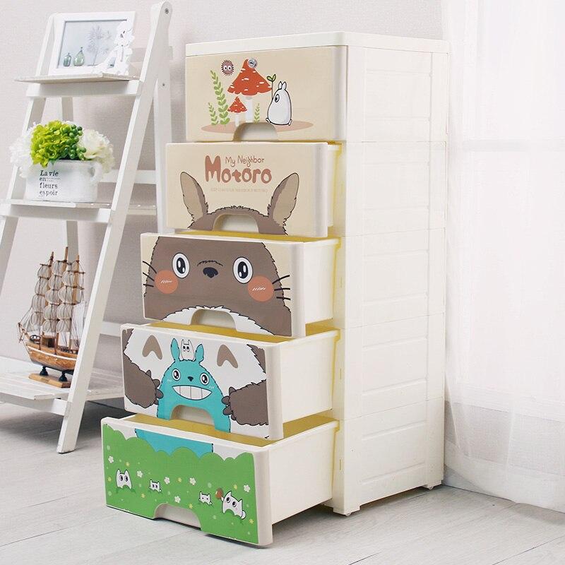 Commode en plastique dans le bureau bricolage 38 cm armoire placard organisateur de rangement pour jouets grande boîte en plastique pour organisateur de chambre - 5