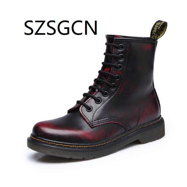 3c2b7074ad5 2019 las nuevas mujeres zapatos de cuero genuino para Botas de invierno zapatos  de Mujer de