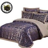 Silk Satin 100 Cotton Luxurious Bedding Sets 4pcs RU Size Discount Bedding Bedlinen Bedclothes Jacquard Damask