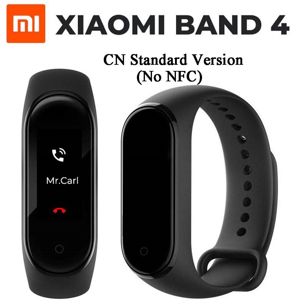 Original Xiaomi Mi Band 4 Bluetooth 5 0 Wristband Fitness Bracelet AMOLED Color Touch Screen Music