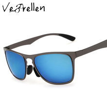 VeBrellen Polarized Men Sunglasses Sports Oversized Square Driver Fishing Sun Glasses HD Lens Women Metal Frame Design VJ130