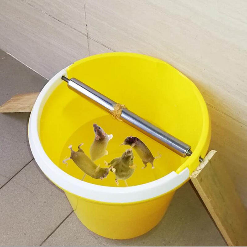Auto Mouse Traps Household Pest Mice Control Rodent Bait Killer Stainless Steel Rolling Stick Rat Catcher Catching Mousetrap