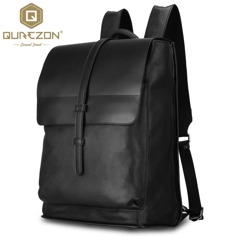 все цены на New15.75 Inch Laptop Bag Backpack Men Large Capacity First Layer Cowhide Genuine Leahter Compact Men's Backpacks High Quality