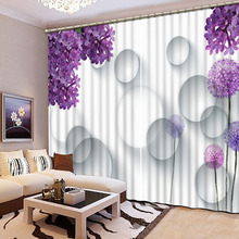 3D Refined Noble Blackout font b Curtains b font High Quality HD Lifelike font b Window
