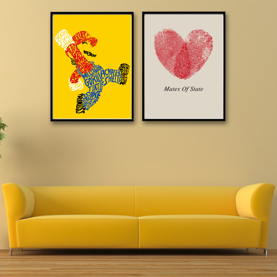 Super mario 3d world game love art cartoon poster print for Modern home decor games