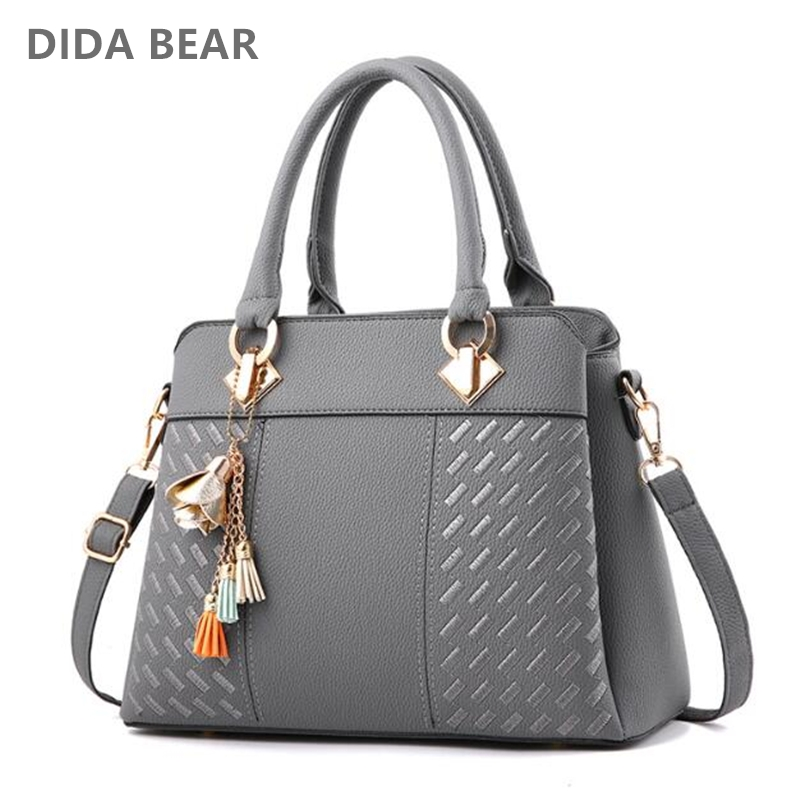 2018 New Fashion Women Leather Handbags Lady Large Tote Bag for Shopping Travel Bag Female Shoulder Bags Bolsas Femininas hot women shoulder bags leather nylon fold bag folding nylon tote bag travel school shopping handbags hasp bolsas hobos feminina