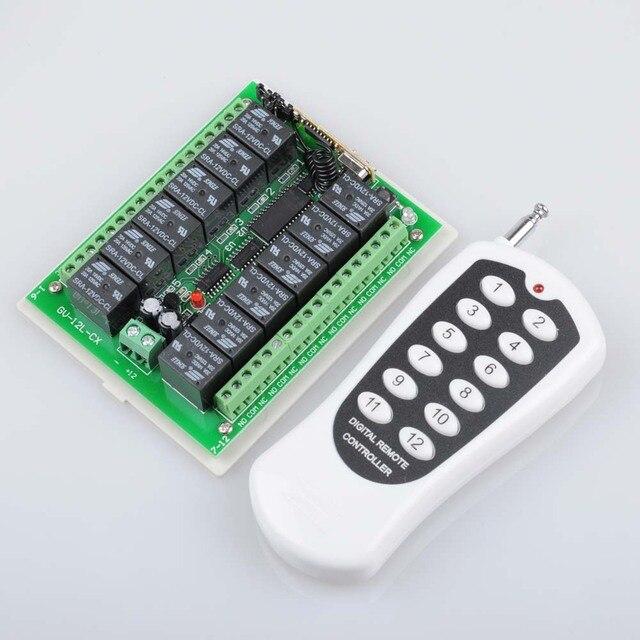 12 В 12CH удаленного Управление коммутатора RF Беспроводной приемник передатчик узнать код 8 видов способ работы 315/433Nhz Max 5A 250VAC