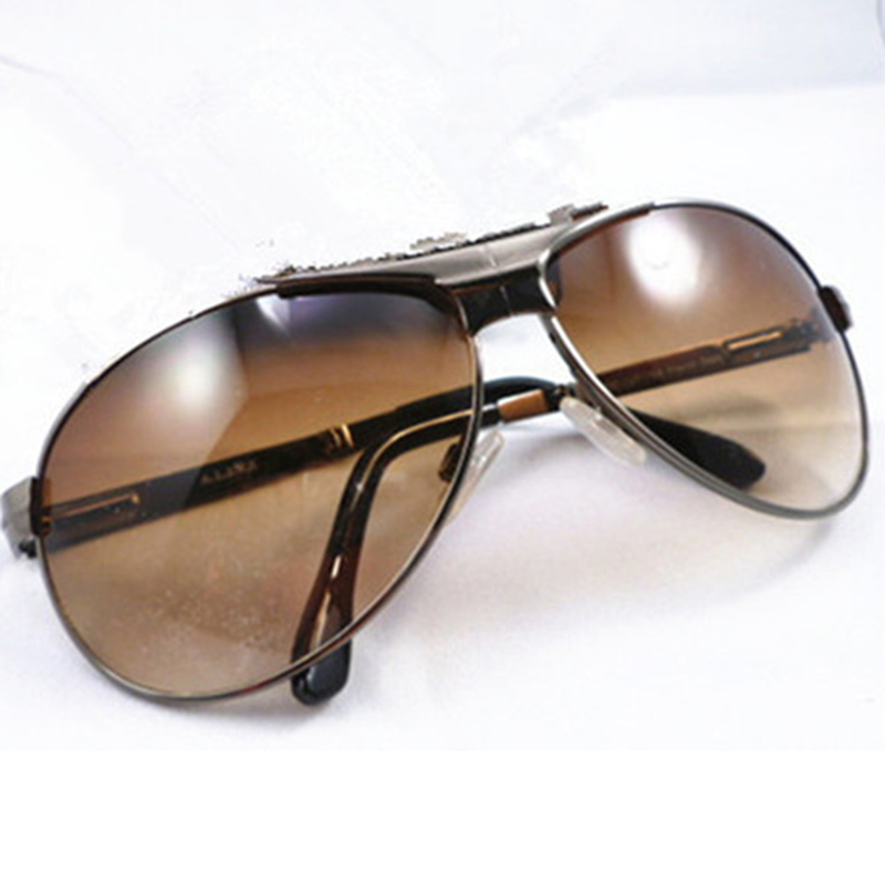 New Brand Metal Folding Polarized Sunglasses With Case Men Gun Shade Sun Glasses Eyeglasses Male Spectacles Summer Gafas B2 in Men 39 s Sunglasses from Apparel Accessories