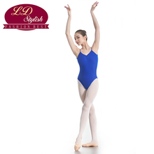 Women Blue Training Leotards Competition Dance Skirt Stage Performance Female Gymnastic Dancewear Adults Practice Clothing