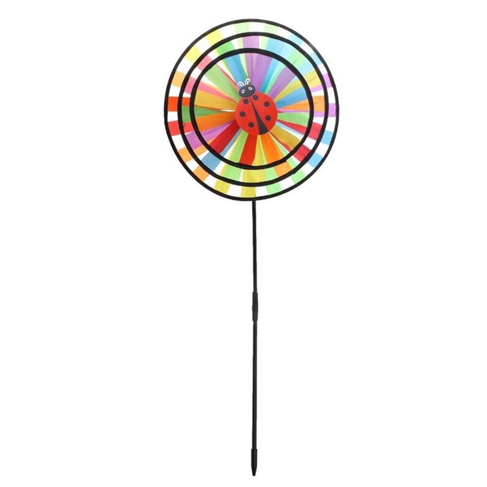Outdoor Rainbow Windmill Pinwheel Wind Spinner Yard Garden Party Decor Kids Toy