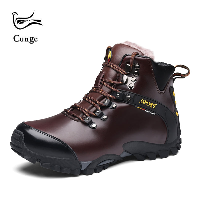 Mens New Winter Plus Velvet Long-haired Leather Shoes Winter Shoes Mens Snow Boots Non-slip Wear High BootsMens New Winter Plus Velvet Long-haired Leather Shoes Winter Shoes Mens Snow Boots Non-slip Wear High Boots