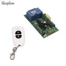 Sleeplion AC110V 220V 250V 2CH 10A 85-250V RF Wireless Remote Switch Wireless Light Switch Teleswitch Power ON/OFF 315MHz 433MHz