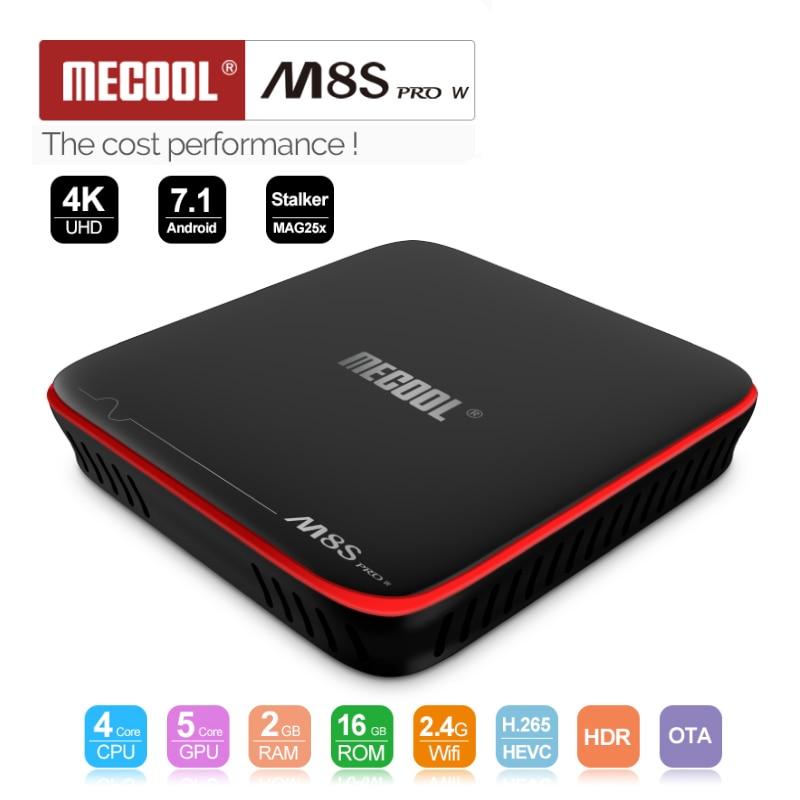 MECOOL M8S PRO W Android 7 1 TV Box Amlogic S905W Quad Core 2GB RAM DDR3