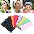 Mulheres Faixa de Cabelo Headband Elastic Sports Headbands Toalha 7 Cores